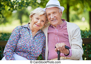 Ältere Menschen.