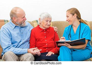 Ältere Pflege.