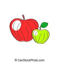 Äpfel. Rot, grün