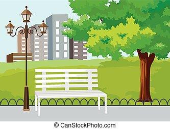 Öffentlicher Park im Stadtvektor