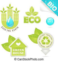Öko- und Bio-Ikonen setzen