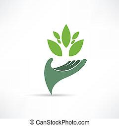 Ökologisches Umweltsymbol.