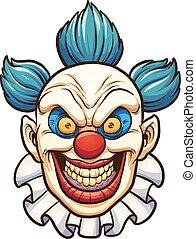 übel, clown