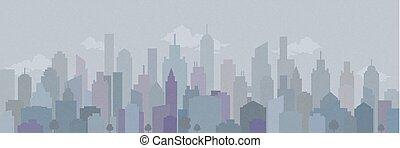 Überdruckt Stadtlandschaft. Vector Illustration.