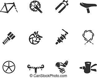 -, bw, fahrrad, heiligenbilder, zubehörteil