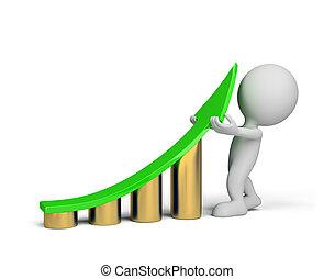 -, person, verbesserung, 3d, statistik