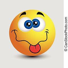 Böser emoji. Böser, schlauer, smiley-emoticon