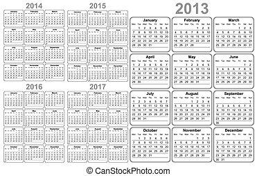 20, 2013, 2012, kalender, 2015, 2014