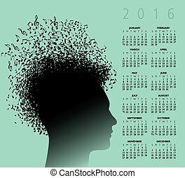2016 Musikkalender.