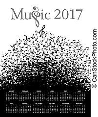 2017 Musikkalender.
