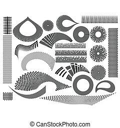 24, gewebe, elemente, design