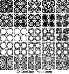 25 nahtlose Muster.
