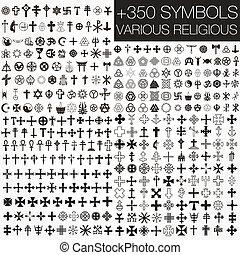 350 Symbole vektoren verschiedene Religios