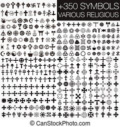 350 Symbole verschiedener Religion