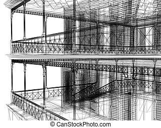 3d abstrakte Architektur