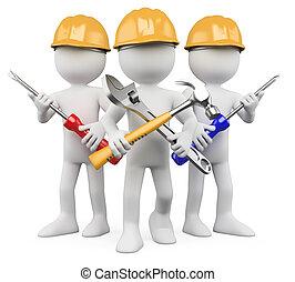 3D Arbeiter - Team der Arbeit