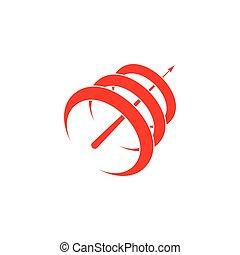 3d, bewegung, nach-oben, logo, vektor, kurven