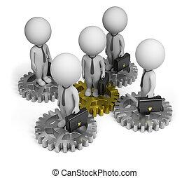 3d kleine Leute - Geschäftsteam