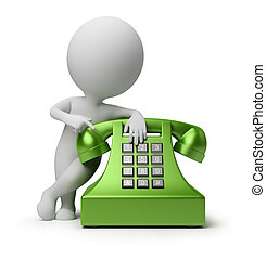 3d kleine Leute - telefonieren