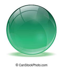 3D-Kristallkugel.