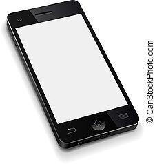 3D-Mobilfunk-Temperaturen mit weißer Leinwand realistischer Vektor-Illustration.