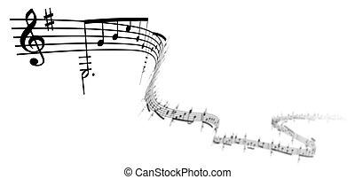 3D-Musiknotizen