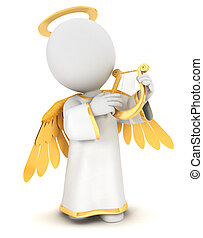 3d Weiße Engel