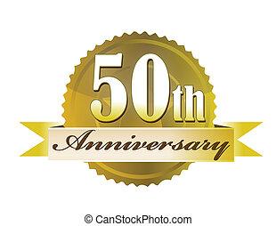 50th, siegel, jubiläum