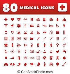 80 medizinische Ikonen