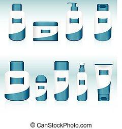 9, containers., satz, kosmetisch