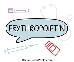 abbildung, epo, concept-, vektor, erythropoietin, medizin