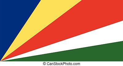 abbildung, fahne, seychellen, vektor