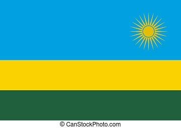 abbildung, ruanda markierungsfahne, vektor