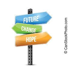 abbildung, zeichen, design, änderung, zukunft, hoffnung