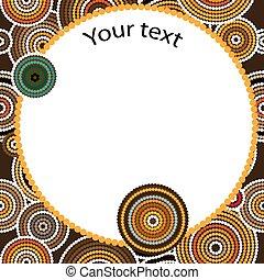 Aboriginal Art Vektor nahtlos Hintergrund.