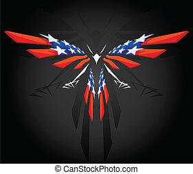 Absperrung unter amerikanischer Flagge