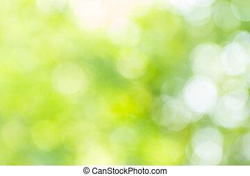 Abstract Bokeh und verschwommener grüner Natur Hintergrund.