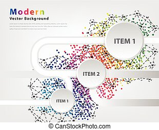 Abstract Business Infographics Vektor.