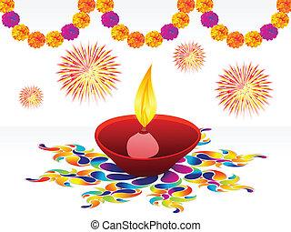 Abstract Diwali Hintergrund.