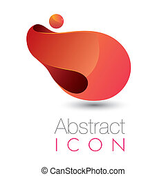 Abstract futuristische Ikone.