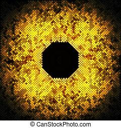 Abstract Goldene Punkte auf schwarzer Hintergrund vektorgrafik.