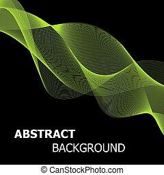 Abstract Green Line Wellen Hintergrund.