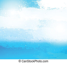 Abstract grunge blue background.