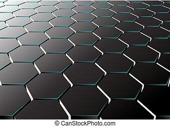 Abstract hexagonaler Hintergrund.