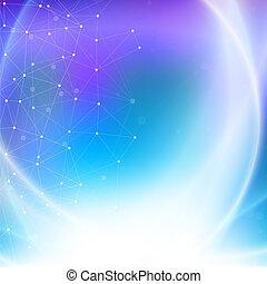 Abstract Hintergrund, blauer Texturvektor, Illustration für Kommunikation.