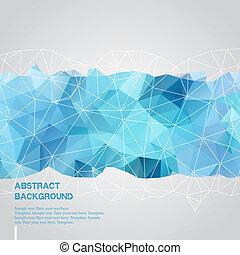 Abstract Hintergrund mit blauer Dreiecksvorlage.