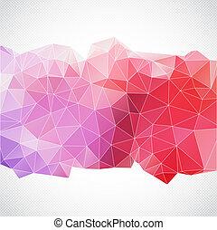 Abstract Hintergrund mit Dreiecksvorlage.