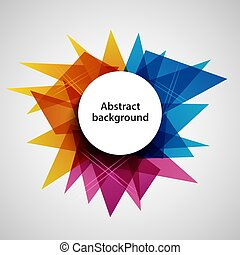 Abstract Hintergrund mit farbigen Design-Dreieckvorlagen.