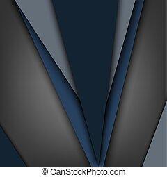 Abstract Hintergrund mit verschiedenen blauen Dreiecksvorlagen.