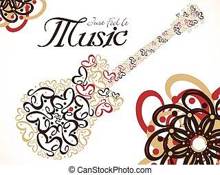 Abstract künstlerische Musik Gitarre Hintergrund.